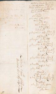 Første side af skattemandtallet for Lindelse 1698