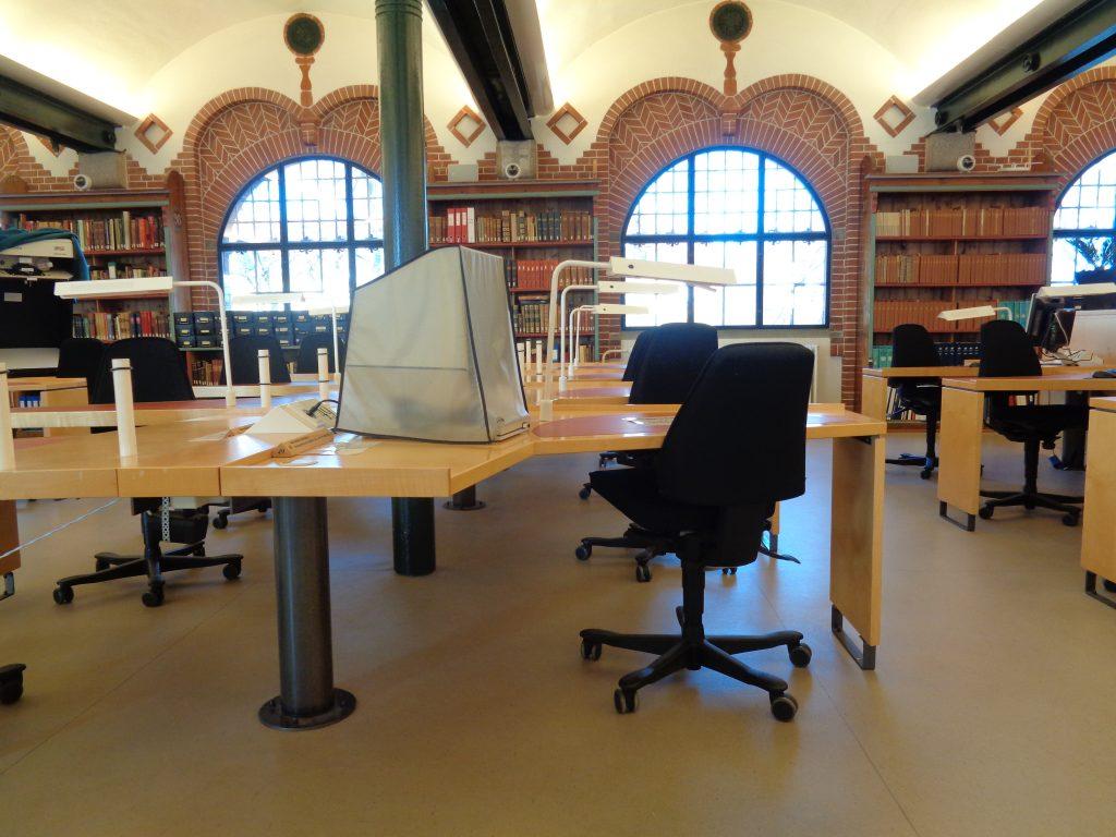 Læsesalen på Rigsarkivet i Viborg. Foto: Torben Albret Kristensen